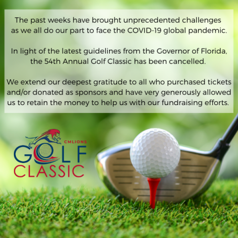 Golf Classic Cancelled